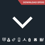 Arrows icon Modern, simple flat royalty free stock photography
