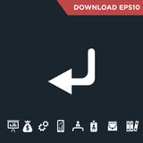 Arrows icon Modern, simple flat royalty free stock photos