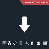 Arrows icon Modern, simple flat royalty free stock images