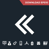 Arrows icon Modern, simple flat stock photo