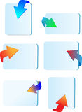 Icon arrows 3d Stock Photo
