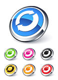Icon arrows recycling Royalty Free Stock Image