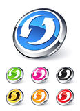 Icon arrows recycling. Clipart illustration Royalty Free Stock Images