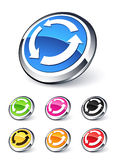Icon arrows recycling Royalty Free Stock Photo