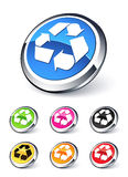 Icon arrows recycling Stock Images