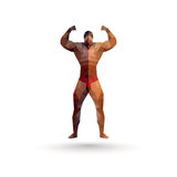 Icon the athlete from polygons Stock Photo