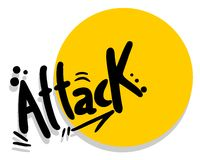 Icon attack Stock Photography
