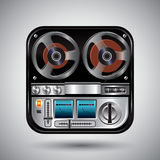 Icon for audio recorder. Stock Photography