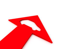 Icon auto inside arrow Stock Photos