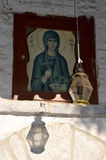 Icon of Ayia Paraskevi ,Kastoria, Greece Royalty Free Stock Photos