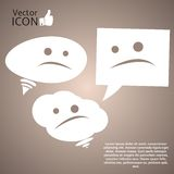 Icon on the Background. Made in vector Royalty Free Stock Images