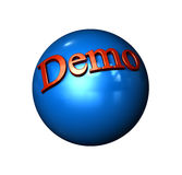 Icon Ball Demo Royalty Free Stock Photo