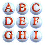 Icon Ball Letters Stock Photos