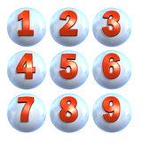 Icon Ball Numbers Stock Image