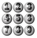 Icon Ball Numbers Royalty Free Stock Images