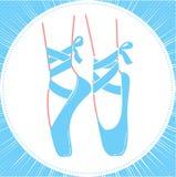 Icon ballerinas feet on pointes Royalty Free Stock Photos