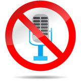 Icon ban microphone Royalty Free Stock Images