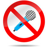 Icon ban microphone Royalty Free Stock Photos
