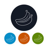 Icon  Banana in the Contours Royalty Free Stock Images