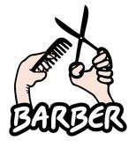 Icon barber Stock Photos