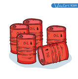 Icon barrels of oil. Vector Royalty Free Stock Photography