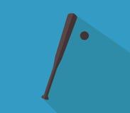 Icon baseball bat illustrated Royalty Free Stock Image