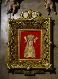Icon in the Basilica of Licheń, Poland. Roman Catholic icon of the Blessed Virgin Mary in the Basilica of Licheń, Poland Stock Photos