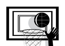 Icon basketball. Stock Photography