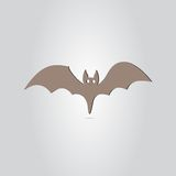 Icon Bat. Happy Halloween Holiday. Made in vector Royalty Free Stock Photos