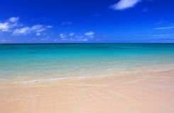 Icon beach. Dreamy beach - with lots of space for text and advertising Royalty Free Stock Images