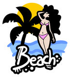 Icon beach Stock Photography