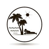 Icon beach vacation. Here you can sunbathe. Stock Photography