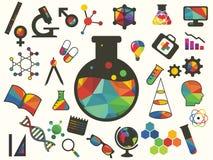 Icon beaker Stock Image