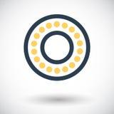 Icon bearing. Bearing. Single flat icon on white background. Vector illustration Royalty Free Stock Photography