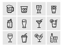 Icon beverage Royalty Free Stock Images