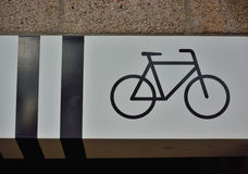 Icon of a bicycle  concept Royalty Free Stock Images