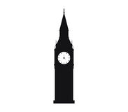 Icon Big Ben illustrated Royalty Free Stock Images
