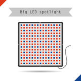 Icon big LED spotlight for plants Stock Photography