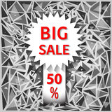 Icon big sale on an abstract background. Vector illustration Stock Photo