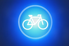 Icon of a bike isolated on a background - Sport concept. View of a Icon of a bike isolated on a background - Sport concept royalty free stock image