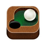 Icon billiards. Stock Photos