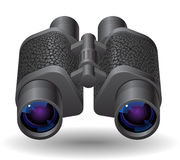 Icon for binoculars. White background. Vector saved as eps-10, file contains objects with transparency Royalty Free Stock Images