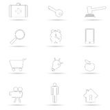 Icon black line vector illustration Royalty Free Stock Photos