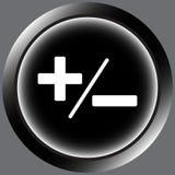 Icon black plus-minus Royalty Free Stock Image