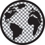 Icon of black and white globe Royalty Free Stock Images