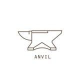 Icon blacksmith`s anvil. Stock Photo