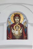 Icon of the blessed Virgin. Sochi Royalty Free Stock Photo