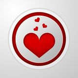 Icon for blog. Red heart Stock Photos