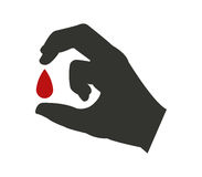Icon of blood container illustrated Stock Image