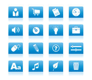 Icon_blue_02 Stock Image